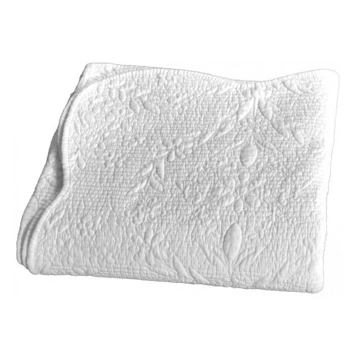 Couvre lit boutis Hanayo Vent du sud - Couleur: Couvre lit boutis Hanayo Neige-Neige$Blanc - Taille de couvre lit boutis: 180 x 230
