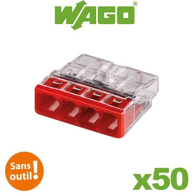 Flacon de 50 mini bornes 4 fils S2273 WAGO