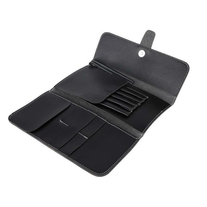ZJCHAO sac de rangement pour coiffure Noir PU ciseaux de coiffure peigne salon cisailles outil sac de rangement support de poche