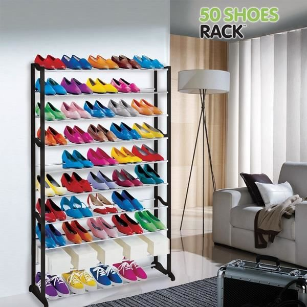 Meuble rangement chaussures 50 chaussures 50 schoes rack - Etagere rangement chaussures ...
