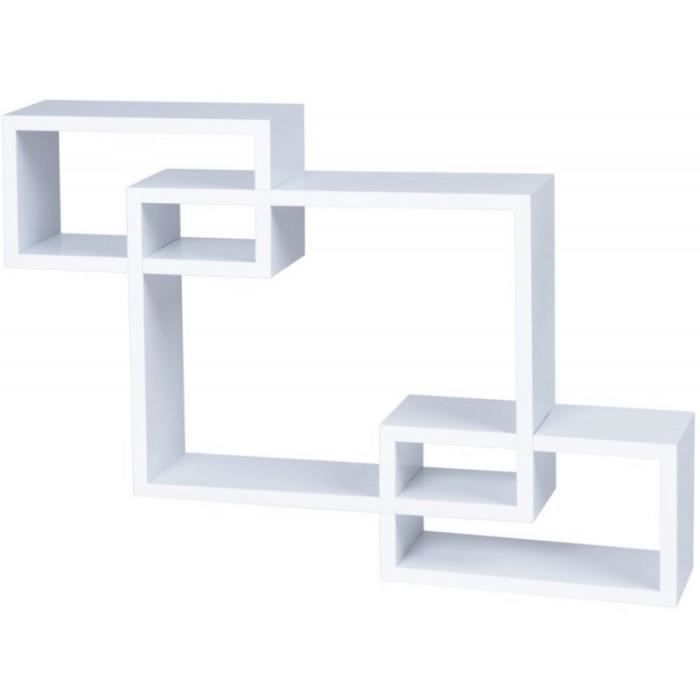 Tag re murale x3 cube design blanc 2701001 achat vente meuble tag re t - Etagere murale cdiscount ...