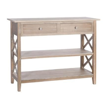 console 2 tiroirs 2 tag res en bois massif achat. Black Bedroom Furniture Sets. Home Design Ideas