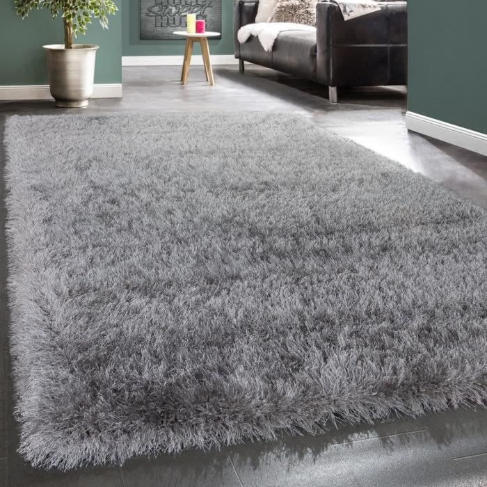 shaggy tapis strass gris 160x230 cm achat vente. Black Bedroom Furniture Sets. Home Design Ideas