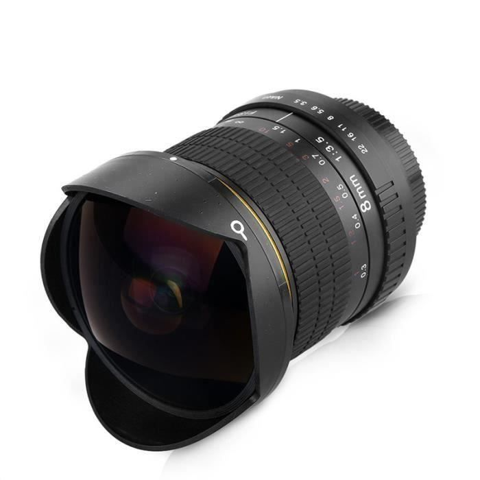 Fisheye Ultra Grand Angle Professionnel Ultra Grand Angle 8mm F 3 0 Pour Appareils Photo Nikon D500 D3200 D3300 D3400 D5200 D5300 Achat Vente Objectif Cdiscount