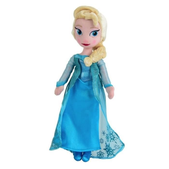 frozen poup e en peluche elsa la reine des neiges 25cm achat vente peluche soldes d. Black Bedroom Furniture Sets. Home Design Ideas