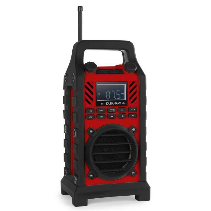 oneConcept 862-BT - radio de chantier Bluetooth avec lecteur USB SD MP3 et entrée AUX
