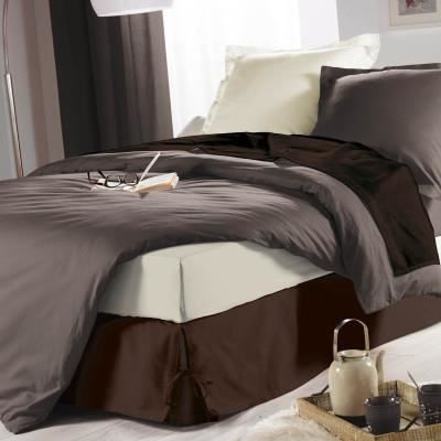 cache sommier nouettes 90x190 chocolat achat vente cache sommier cdiscount. Black Bedroom Furniture Sets. Home Design Ideas