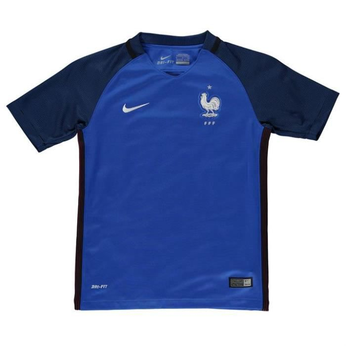 Maillot officiel enfant nike france home euro 2016 prix for Maillot exterieur xv de france