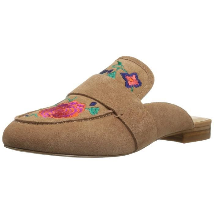 French Floral Embroidery Slide Slip-on Loafer RFLDL Taille-39