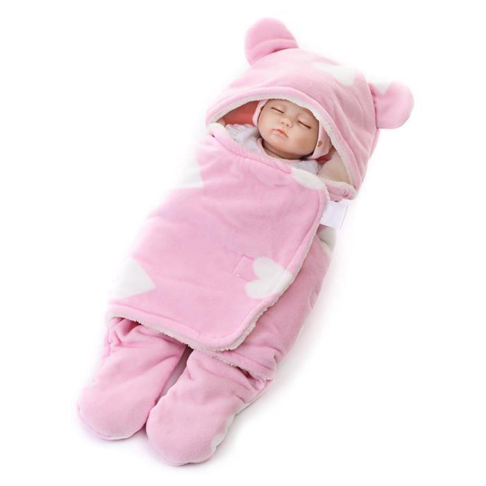100/% coton doux bébé infantile swaddle wrap blankt sac de couchage pour 0-6 mois