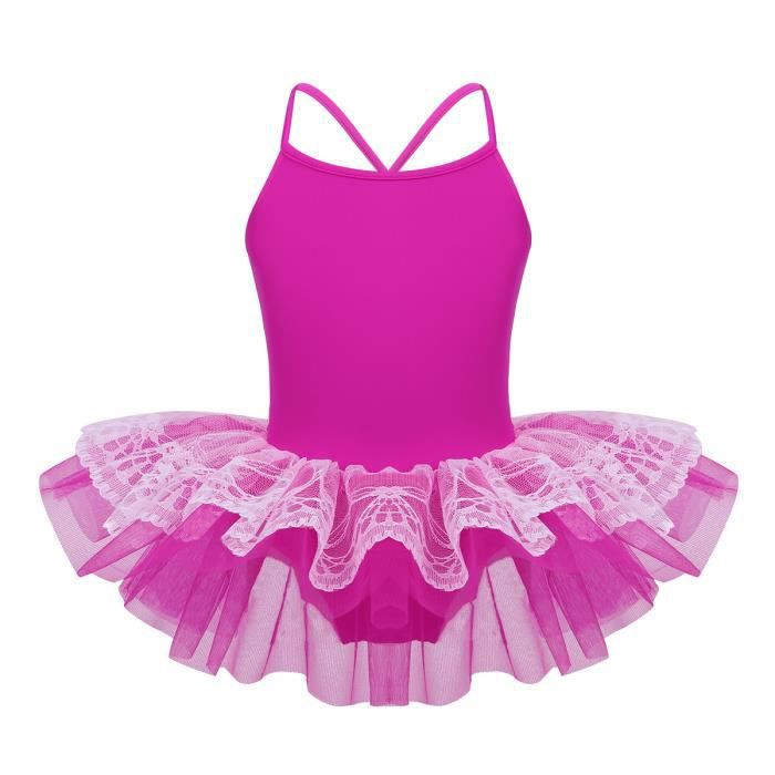 ESHOO Enfant Fille Ballet Danse Dentelle Jupe de Dance Justaucorps