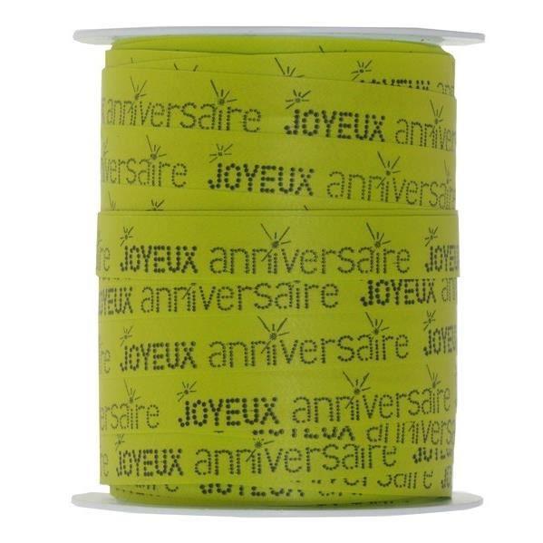 Bolduc Joyeux Anniversaire Vert X1 Ref5234