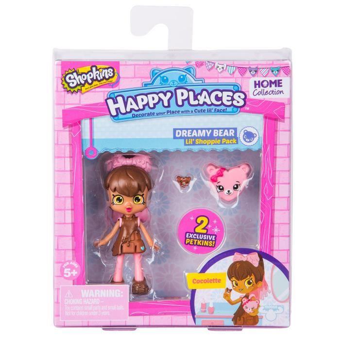 POUPÉE Shopkins happy lieux saison 2 poupée single pack c