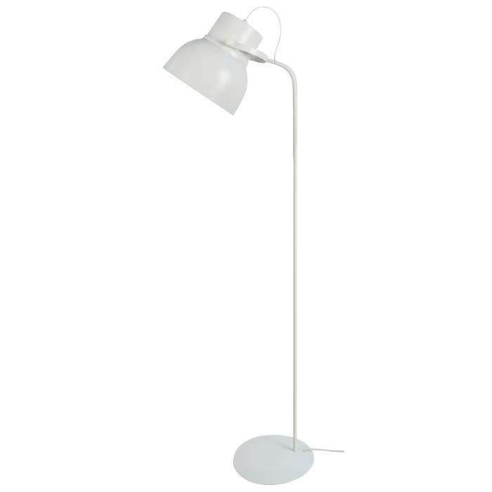 LAMPADAIRE Lampadaire Cloche E27 23 W 150 cm Blanc sablé