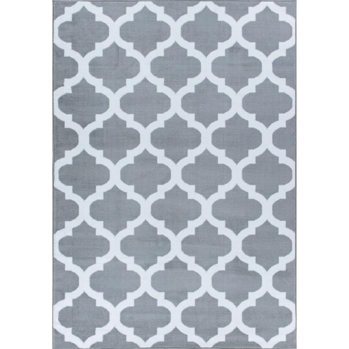 TAPIS Tapis A2Z Trendy 5309 Tapis gris et blanc, 160x230