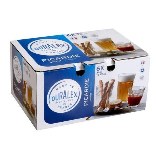 Duralex Pack de 4 Gobelets 36 Cl Picardie