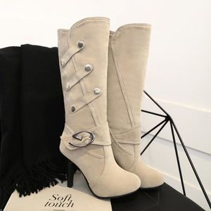 huge discount ff81c bf346 ... BOTTE SHELOVEIT® Bottes Femmes Suede Pure Couleur Casual. ‹›