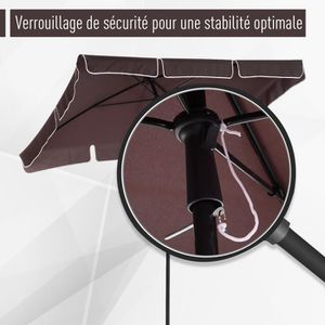 Parasol rectangulaire achat vente parasol - Parasol deporte rectangulaire inclinable ...