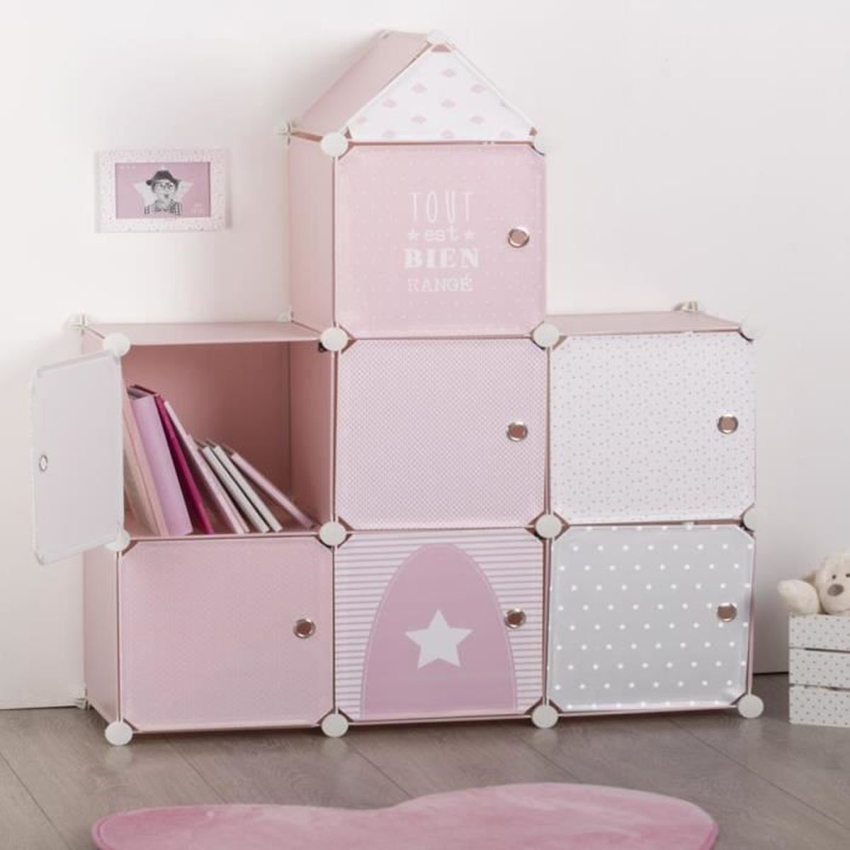 meuble de rangement chateau rose autres rose achat. Black Bedroom Furniture Sets. Home Design Ideas