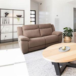 CANAPÉ - SOFA - DIVAN Jerez - Canapé Relax Electrique 2 Places Marron