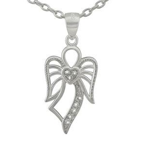 Clever Schmuck Pendentif Mini Croix 12/mm diamant/ée brillant avec cha/îne 36/cm en argent 925