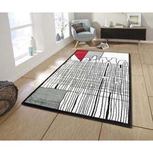 TAPIS CALI Grand tapis de salon graphique - 200 x 280 cm