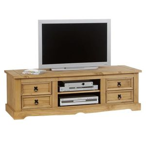 meuble banc tv vintage tequila pin massif cir achat. Black Bedroom Furniture Sets. Home Design Ideas