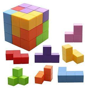 ASSEMBLAGE CONSTRUCTION Blocs de Construction Magnétique Jouets Cube Const
