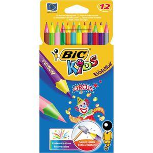 CRAYON DE COULEUR BIC Etui de 12 crayons de couleur Kids Evolution C