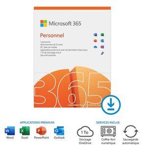 BUREAUTIQUE À TÉLÉCHARGER Office 365 Personnel à télécharger - Abonnement 1