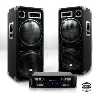 PACK SONO Pack Sono DJ ampli 2 x 800W + enceintes 2 x 1000 W