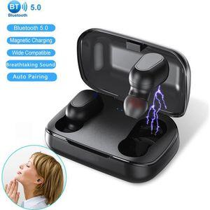 CASQUE - ÉCOUTEURS Ecouteur Bluetooth 5.0 Écouteur sans Fil Lecheo TW