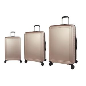 SET DE VALISES LYS - Set de 3 Valises  Rigide ABS trolley rose go