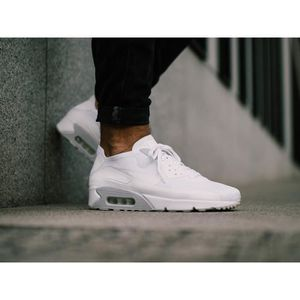 best selling pre order cost charm Baskets Nike Air Max 90 ULTRA 2.0 Flyknit 875943-101 blanches ...