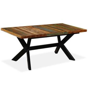 Table a manger bois recycle - Achat / Vente pas cher