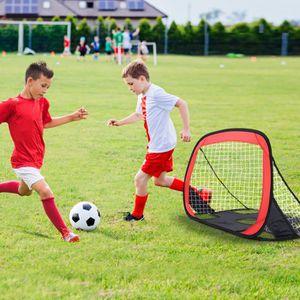 CAGE DE FOOTBALL Mini-But de Football Set Ensemble 2 En 1 Amovible