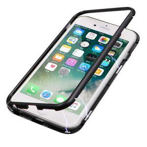 Coque iphone 6 plus magnetique noir