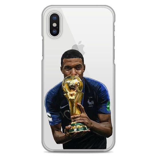 Coque iPhone X transparente motif champion du monde, coupe du ...