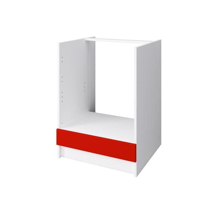 ELEMENTS BAS OBI Meuble four L 60 cm - Rouge mat