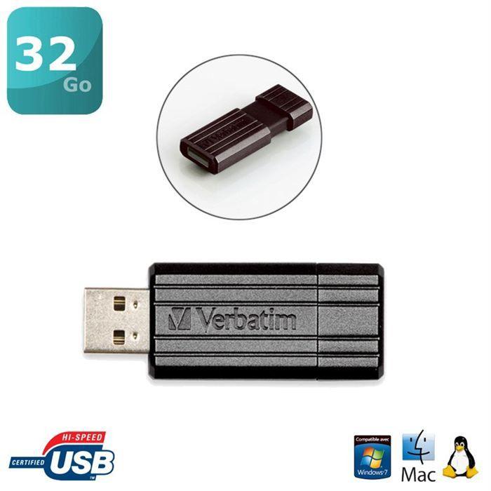 Verbatim Store'n'go PinStripe 32Go USB2.0