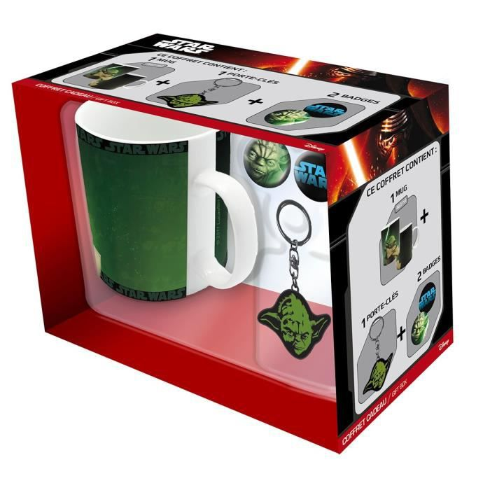 Pack Mug + Porte-clés + Badges Star Wars - Yoda - ABYstyle