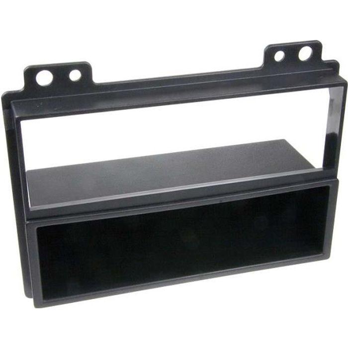 Adaptateur de façade 2-DIN avec vide poche Fiesta / Fusion > 2005 noir