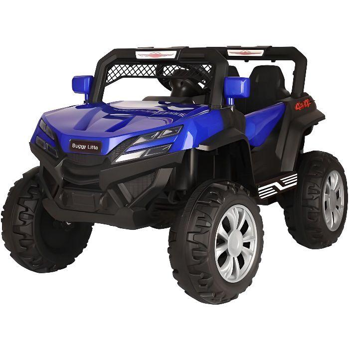 Buggy little 12v Bleu - Voiture Buggy électrique pour enfant avec batterie et télécommande
