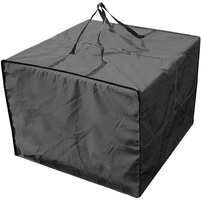 Sac de rangement carré pour meubles de jardin, sac de rangement imperméable Oxford housses de siège pour meubles de canapé coussins