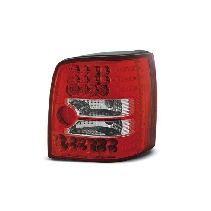 Paire de feux arriere VW Passat B5 3B break 96-00 rouge blanc led (W17)