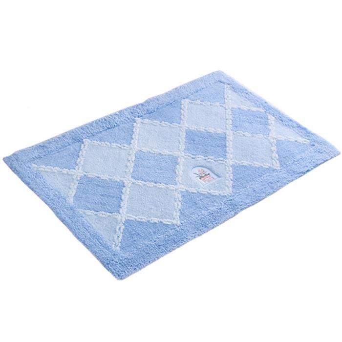 Absorbant antidérapant Paillasson Paillasson entrée Mat tapis de sol Grille/Bleu