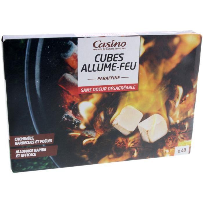 CASINO Cube d'Allume-feu Parafine X40