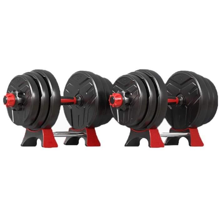 Haltã¨res Haltères Réglables Set Fitness Haltères Set Haltères Haltères avec Bielle Et Stand Dumbbell (Color : Black, Taille : 10Kg(