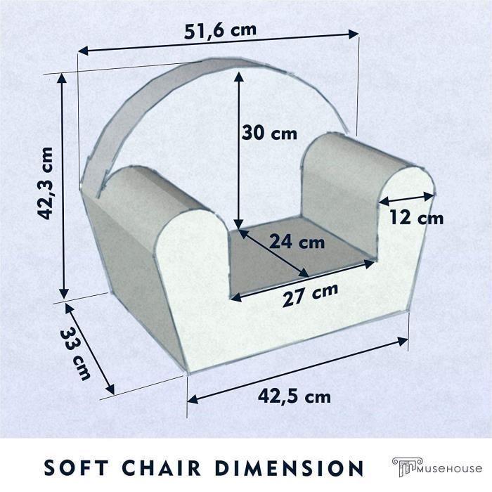 Chaise enfant - fauteuil - Siège de canapé - Tabouret pour enfants Enfants - Meubles pour enfants - 0-4 ans - (White-Star)