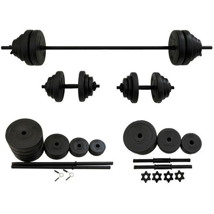 FitTronic Kit haltères 50 kg